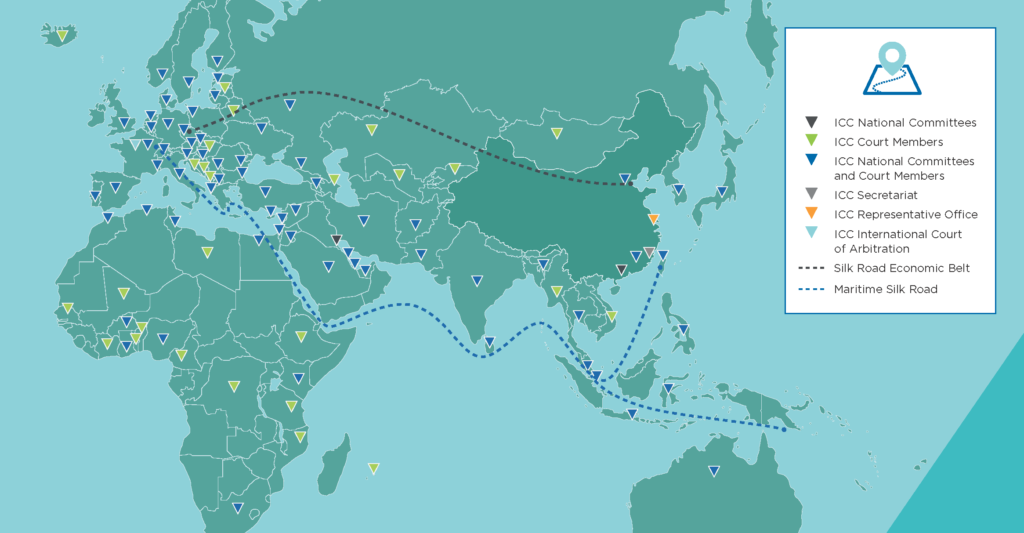 Icc Belt And Road World Map